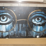 This was a mural the National Art Honor Society was asked to make for the 2014 Prom theme The Great Gatsby. Afterwards, I took it upon myself to enhance the project and give it a piece of my own.